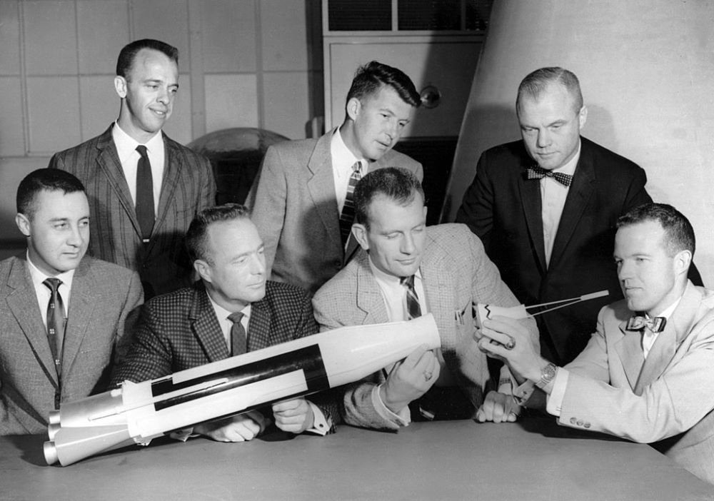 "The ""Mercury Seven"" astronauts"
