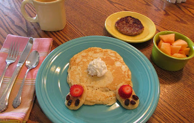 Bunny Butt Pancakes, shared by Cooking with Carlee at the Clever Chicks Blog Hop