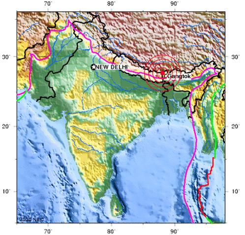Magnitude 6.9 earthquake of Sikim, India 2011 September 18