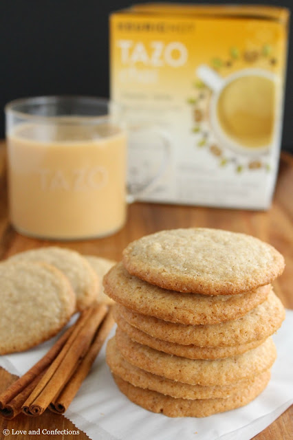 TAZO® Chai Latte and Cinnamon Tea Cookies from LoveandConfections.com #SweetMeetsSpicy #ChaiLatte