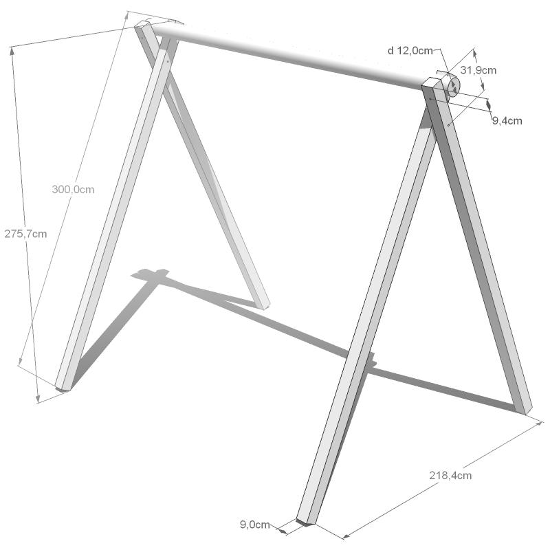 kamero edelstahl schaukelsitz aufh ngung 10x45mm set zum schaukel selber bauen schaukel. Black Bedroom Furniture Sets. Home Design Ideas