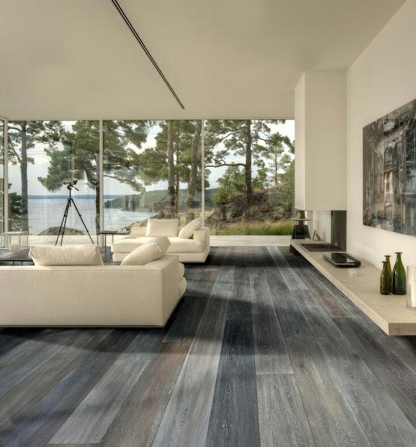 Wood house flooring