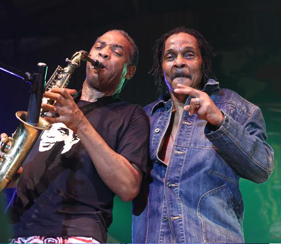 Majek Fashek and Femi Kuti at FELABRATION