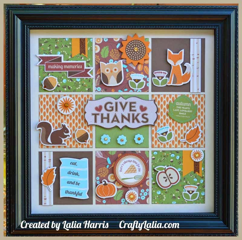 Thanksgiving Shadow Box with CTMH Pathfinding | CraftyLalia.com