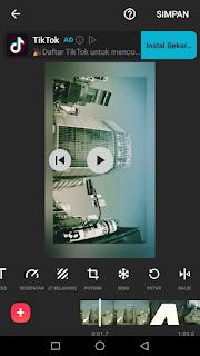 Cara edit video memutar rotasi video menggunakan aplikasi Inshot di Android