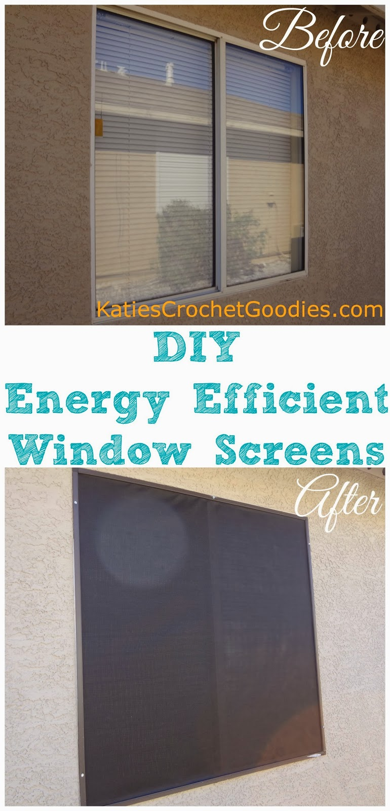 Diy energy efficient window screens katie 39 s crochet goodies for What makes a window energy efficient