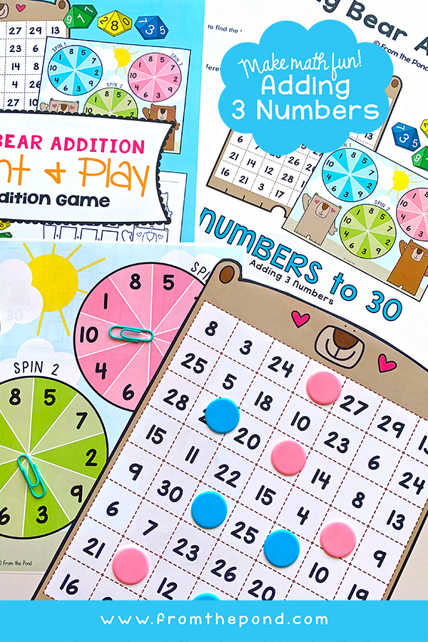 Adding 3 Numbers Addition Game