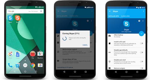 تكرار تطبيقات الأندرويد بدون روت عبر App Cloner
