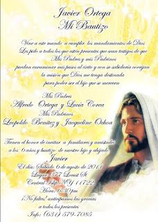 Tarjeta de Invitación de Jesús para Cumpleaños, Bautizo, Bautismo, Primera Comunión Amarilla