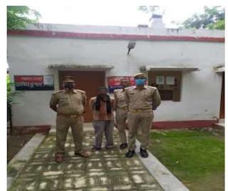 कानपुर नगर के थाना सजेती पुलिस टीम द्वारा पॉक्सो एक्ट में नामित अभियुक्त को किया गिरफ्तार
