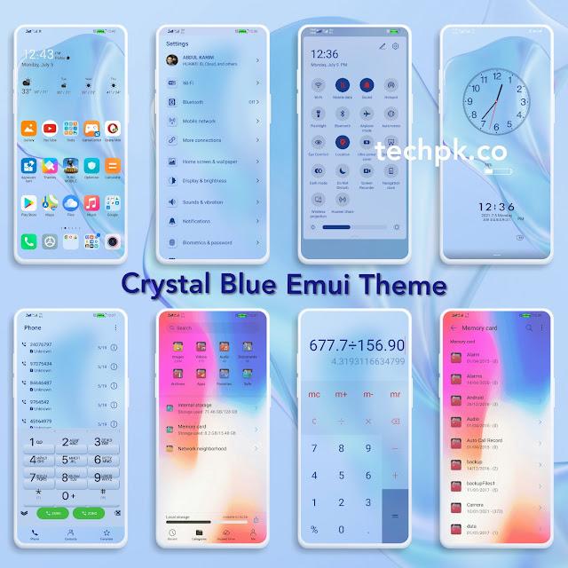 [Emui Theme] Crystal Blue Theme For Emui 11 & Emui 10 & HarmonyOS