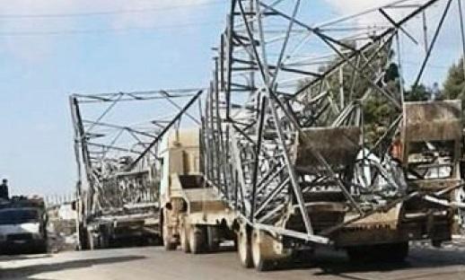 """مرتزقة """"الجيش الوطني"""" يوسع عملياته لسرقة عواميد الكهرباء بريف سري كانية"""
