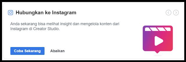 Menghubungkan akun instagram dengan Creator Studio