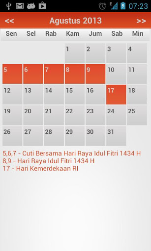 Kalender Indonesia 2013 Android