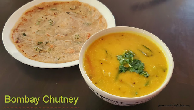 images of Bombay Chutney Recipe / Besan Chutney Recipe / Kadalai Maavu Chutney Recipe - Chutney Recipes
