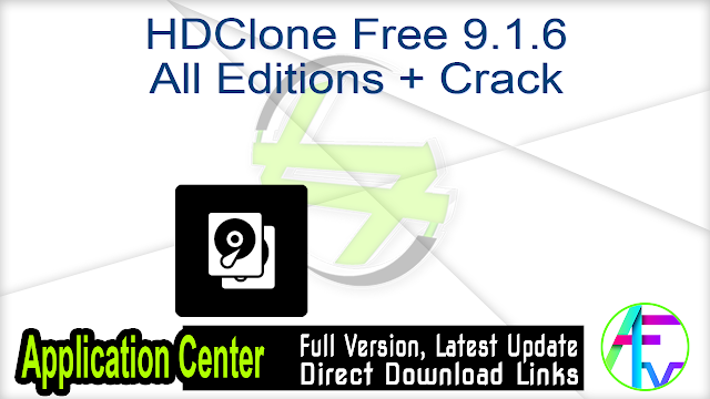 HDClone Free 9.1.6 All Editions + Crack