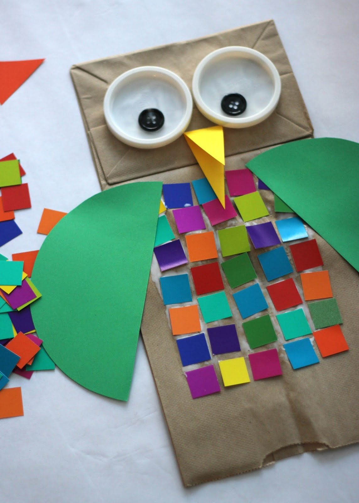 Toddler Approved Colorful Shape Owl Craft For Kids