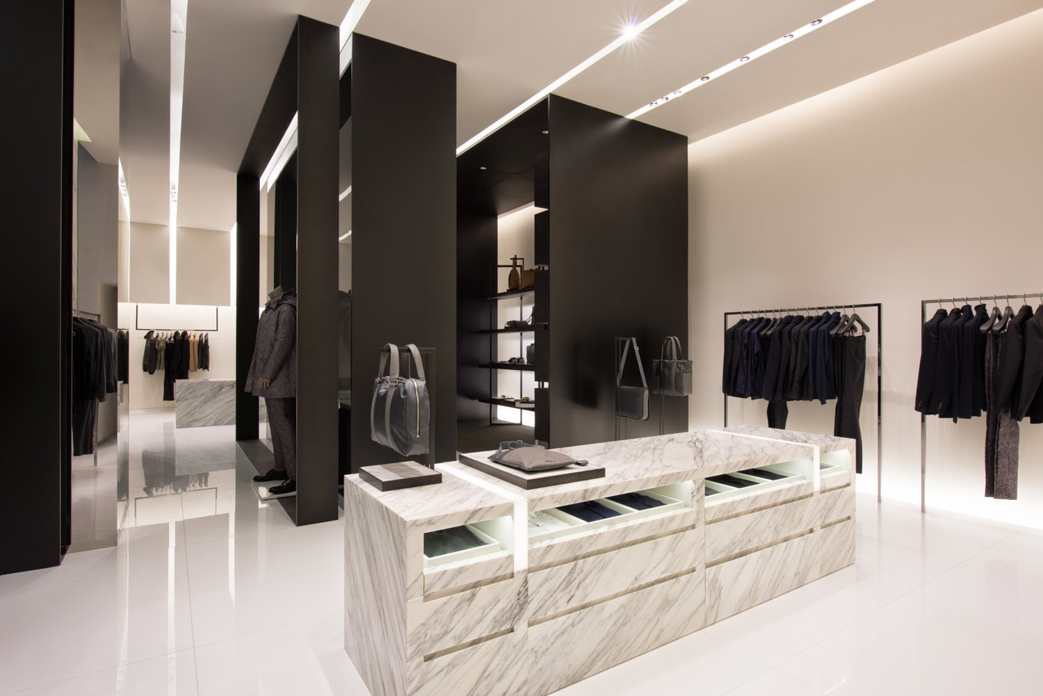 and then and then new calvin klein collection flagship store at the shoppes at marina bay. Black Bedroom Furniture Sets. Home Design Ideas