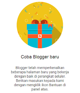 Coba Blogger Baru 2020