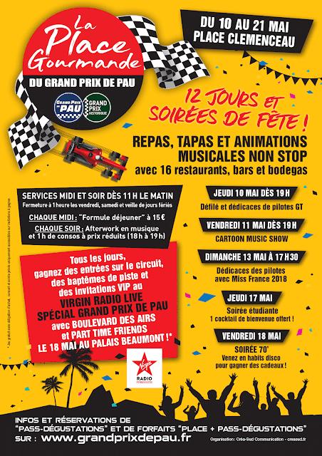 Place gourmande des Grands Prix de Pau 2018