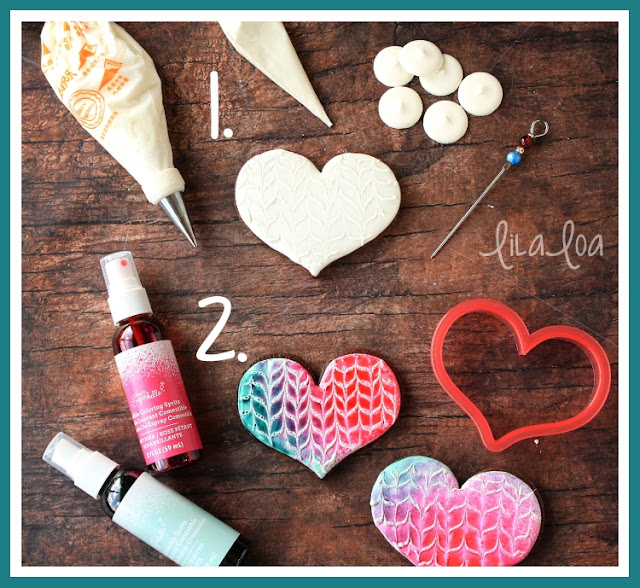 Watercolor heart sugar cookie tutorial