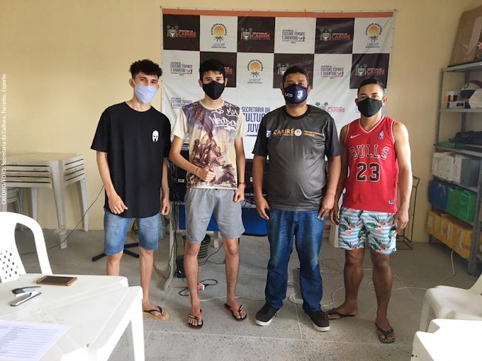 Secretaria de Esporte de Cariré acolhe os bolsistas beneficiados com o Projeto Ceará Atleta