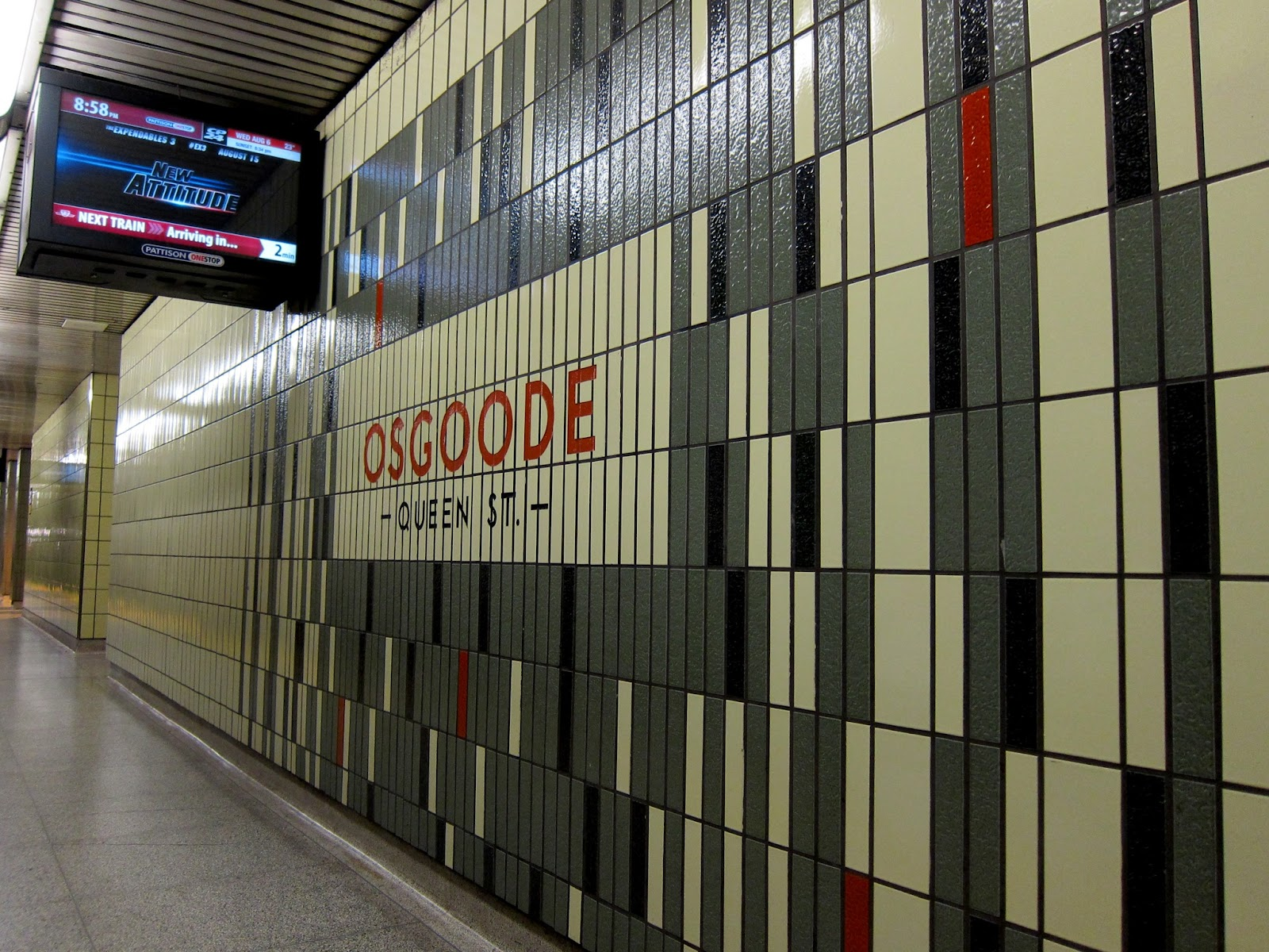 Osgoode station identification - inner wall