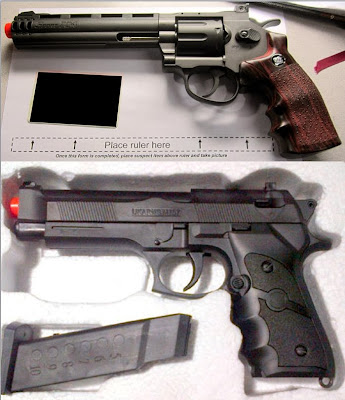 Top to Bottom: Airsoft Guns Discovered at PIT & LAX