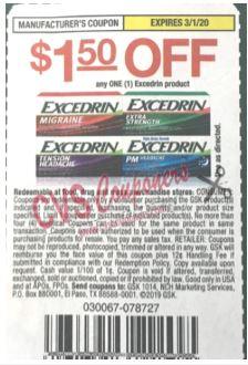 excedrin coupon save $1.50