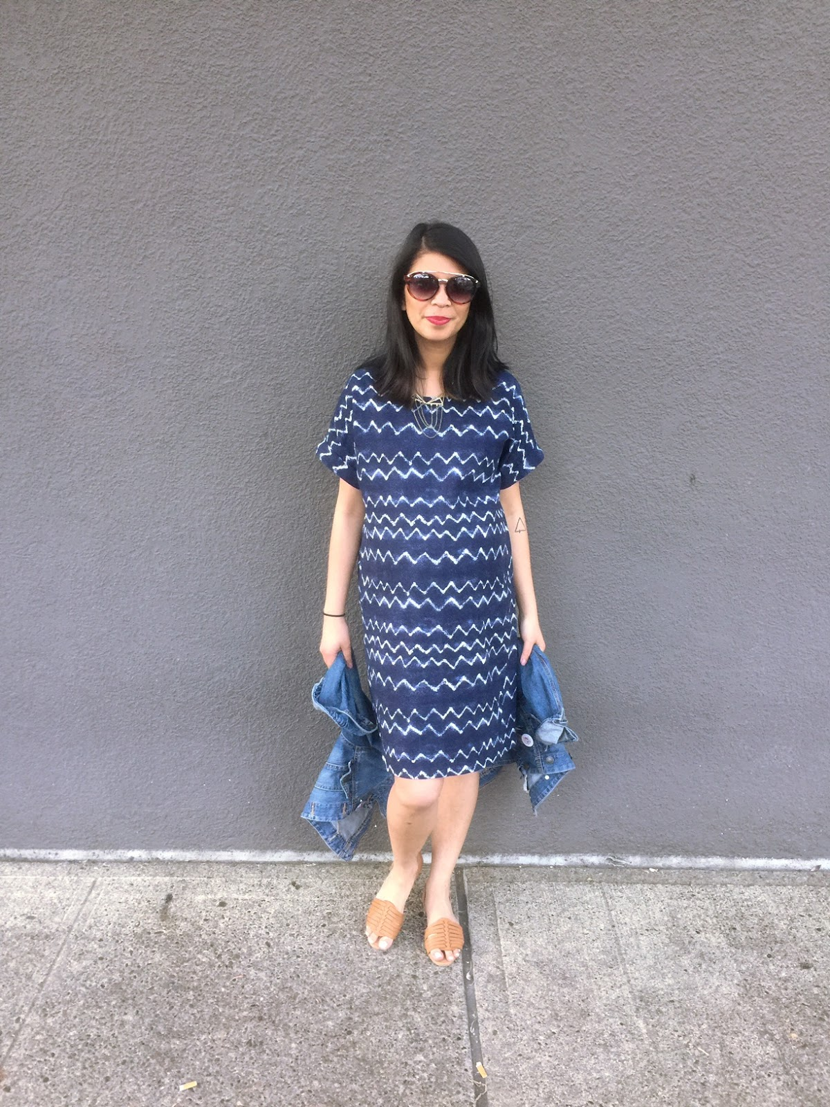 old navy style, shift dress, blue printed dress, shirt dress, pregnancy style, spring 2016, neutral sandals, sundglasses, style the bump, the ptowngirls, portland fashion blogger