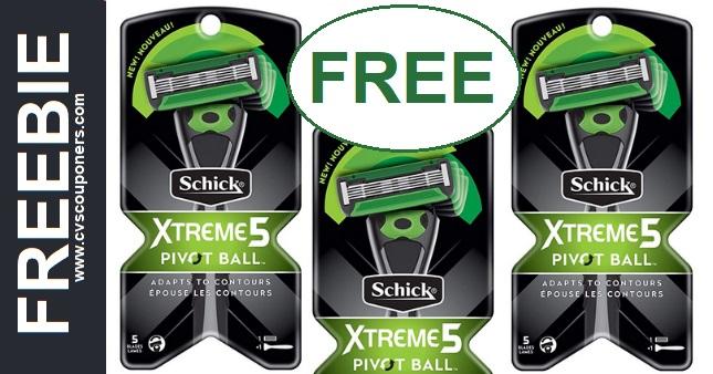 FREE Schick Xtreme5 Pivot Ball Razor at CVS 12-15-12-21