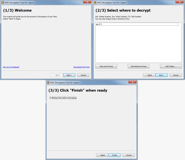 AVG programma per decriptare file da ransomware