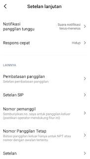 Privat Number dengan Pengaturan Telepon