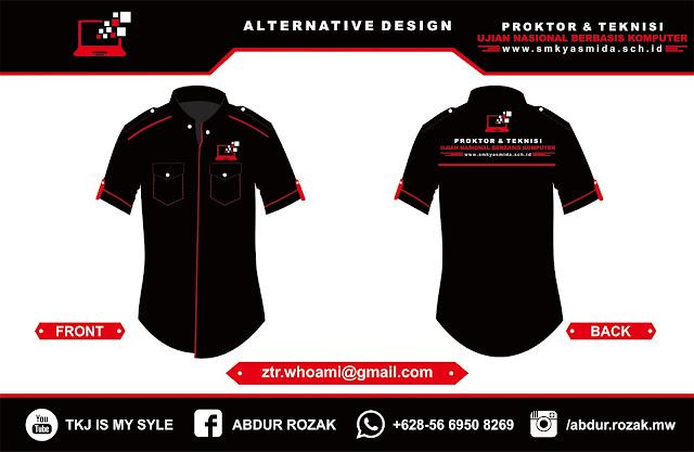Design Baju Proktor UNBK SMK Yasmida Ambarawa