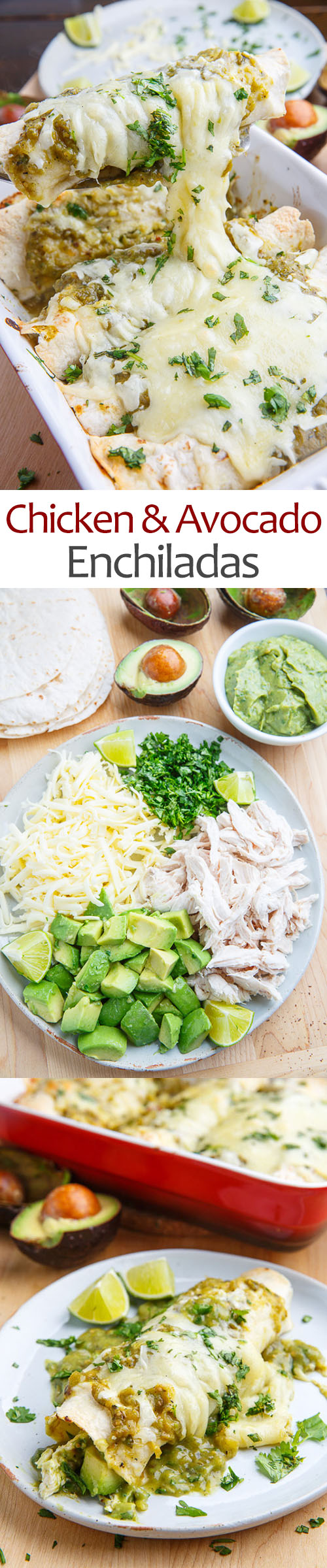 Chicken and Avocado Enchiladas