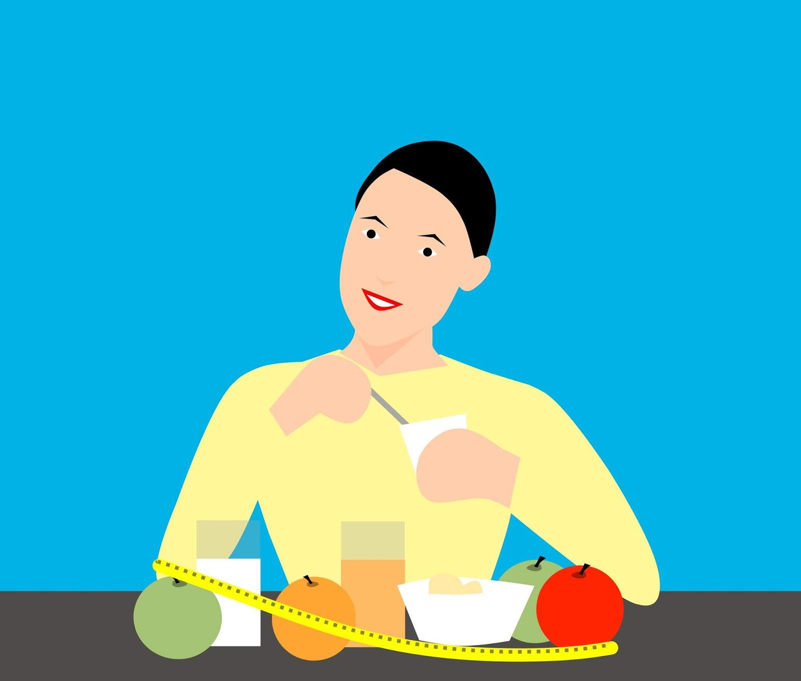 breakfast, diet, woman, apple, balanced, beautiful, calories, dietary, dieting, eating, energy, food, fruits, happy, healthy, juice, meal, milk, natural, slim, smiling, variety, vitamins, weightloss, yogurt
