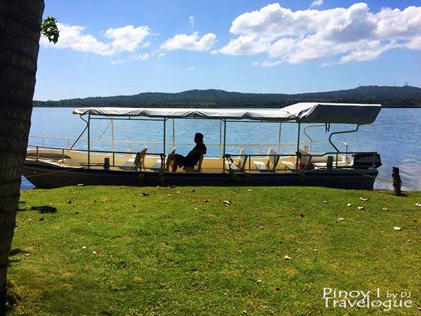 Lake Danao Park's speedboat