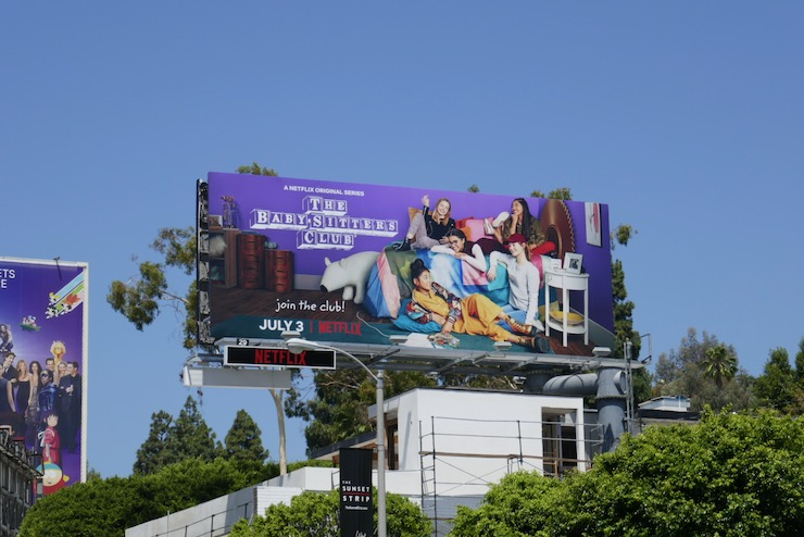 Babysitters Club series launch billboard