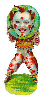circus clown funny antique clipart image digital download