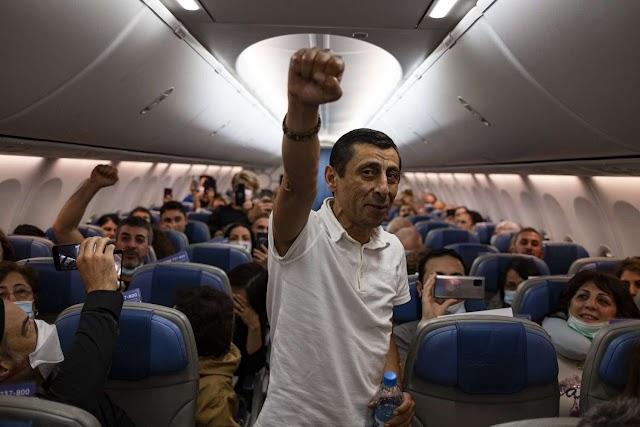 Οι πτήσεις νίκης των Αρμενίων! Σπεύδουν απ΄ όλο τον κόσμο για να πολεμήσουν Τούρκους και Αζέρους (ΦΩΤΟ)