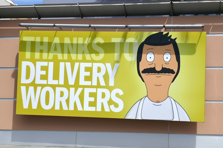 Thanks Delivery Workers Bobs Burgers billboard