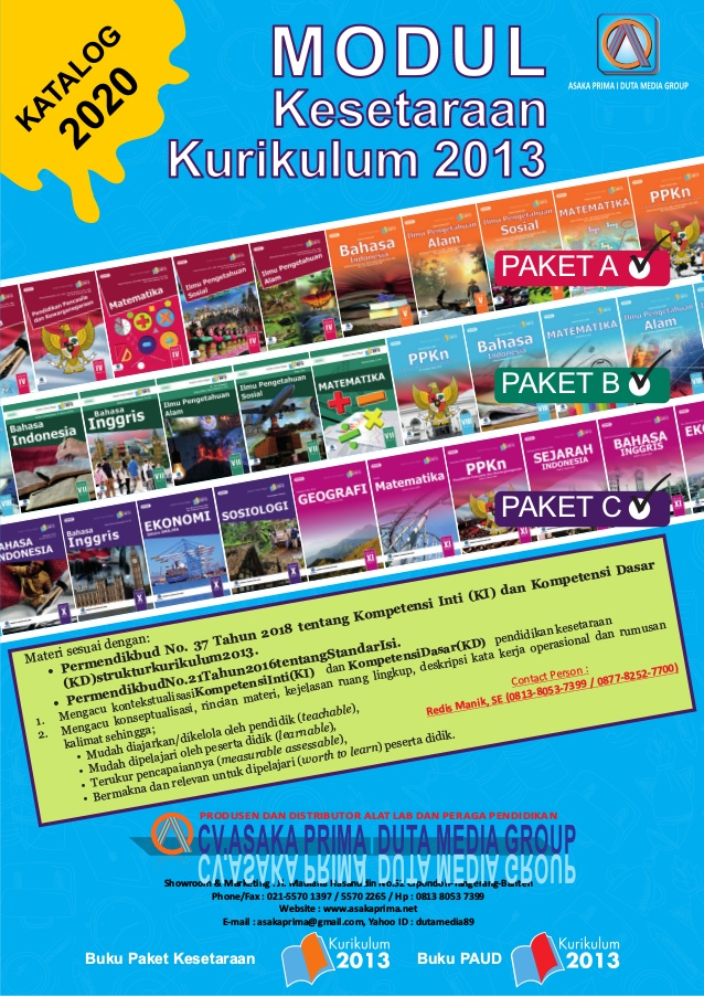 Buku Paket B - Buku Modul PLS Paket B Kurikulum 2013 - DAFTAR BUKU MODUL PLS KURIKULUM 2013 TAHUN 2021
