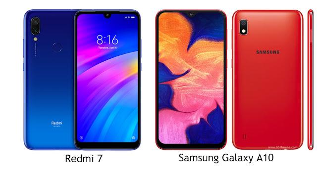 Perbandingan Spesifikasi Redmi 7 dan Samsung Galaxy A10, Lengkap!