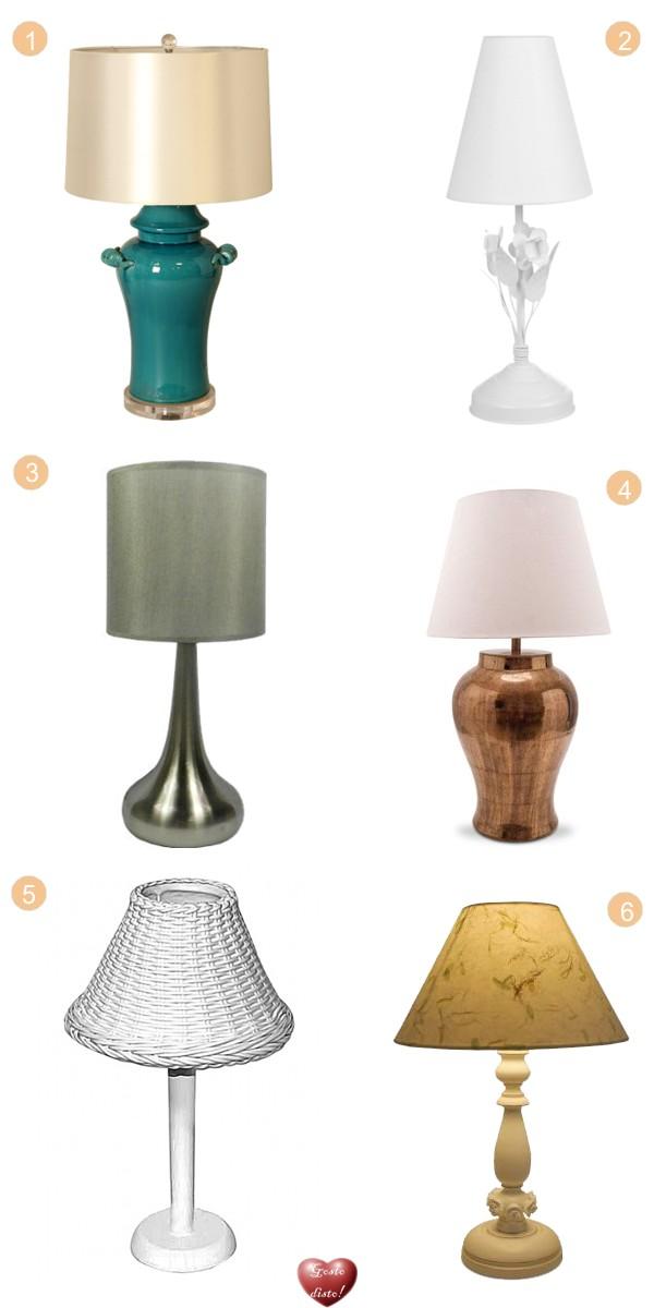 Decorando com abajures e luminárias