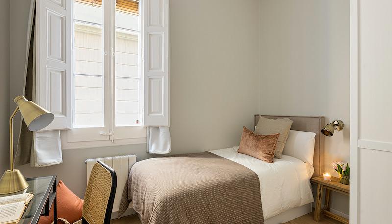 Dormitorio individual rústico moderno