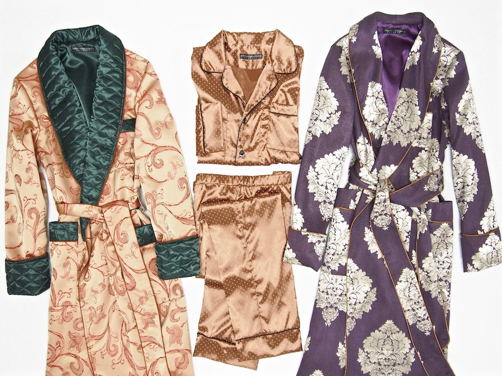Men's Luxury Dressing Gowns, Robes And Matching Pajamas