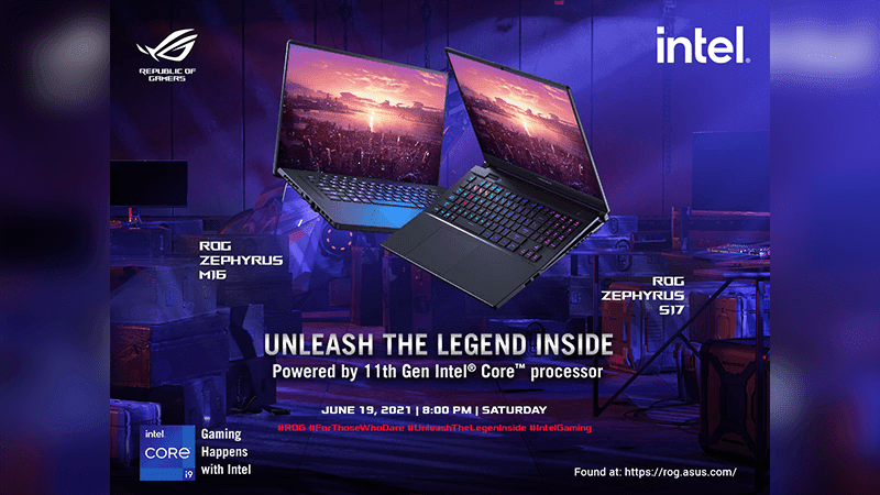 ASUS ROG Zephyrus series with 11th Gen Intel Core CPUs to launch in PH on June 19