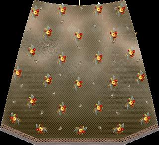 Crop Top Skirt Back 2476