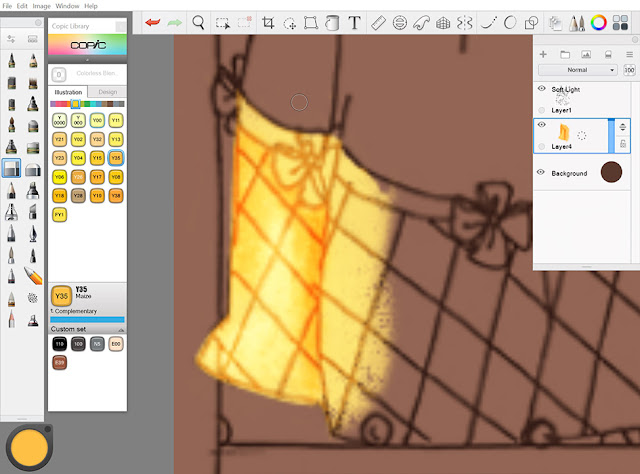 Digital coloring detail