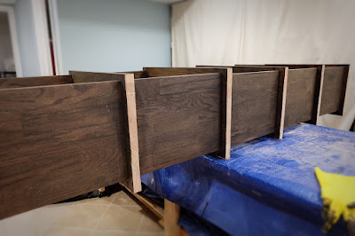 diy storage record vinyl red oak shelf shelves